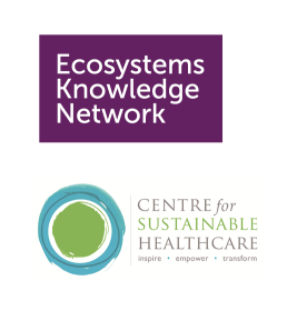 Ecosystems Knowledge Network and Centre for Sustainable Healthcare logos